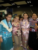 NIEA Pow Wow participants with Tessa Patterson
