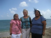 Tessa Patterson (daughter), Sharla Patterson, Sharon Norris (Tohono Oodham Nation) sightseeing on the North Shore.